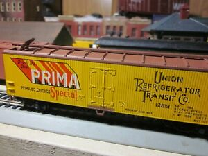 PRIMA-CO-UNION-REEFER-rtr-built-CAR-1-87-ho-ROUNDHOUSE-ATHEARN