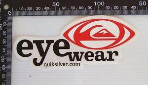 GENUINE QUIKSILVER EYEWEAR AUSTRALIA SUNGLASS SOUVENIR ADVERTISING PROMO STICKER