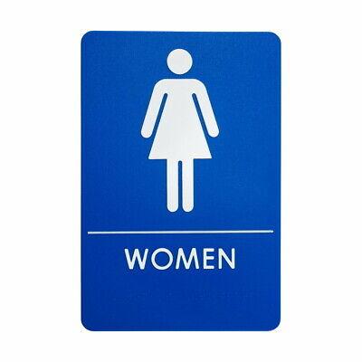 """Female Ladies Toilet Sign Aluminium Round 3/"""" WC Bathroom Restaurant Pub 75mm"""