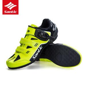 SANTIC-Men-Non-Slip-No-Lock-Cycling-Walking-Shoes-Sneaker-MTB-Road-Bike-Shoes