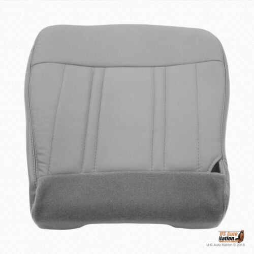 1997 Ford F150 Lariat Front Driver Bottom Replacement Vinyl Seat Cover Med Gray