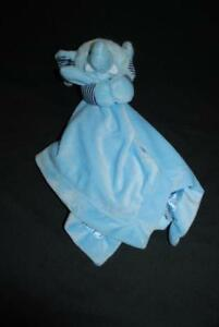 Carters-Blue-Elephant-Stripes-Plush-Baby-Lovey-Security-Blanket-Toy