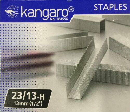 KANGARO HEAVY DUTY STAPLER STAPLES 23//13 H 13mm 1000 STAPLES 1//2/'/'