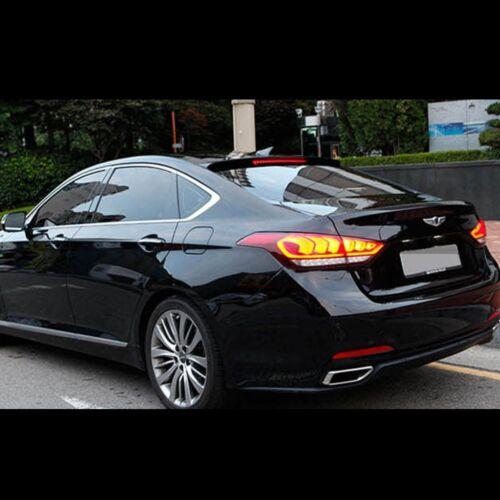 Rear Roof Glass wing Spoiler Black Aero Parts For Hyundai Genesis Sedan DH 2015+