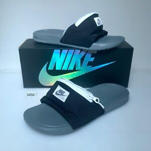 92adc94c98f Nike Benassi JDI Fanny Pack Slide Black Cool Grey Summit White Gray ...