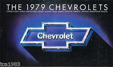 1979 Chevy Brochure : CORVETTE,CAMARO,MONZA,PICKUP Truck,NOVA,RV,MONTE CARLO,'79