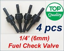 "1/4"" (6mm) 4PCS Inline Fuel Check Valve Diesel Gas Air Liquid One Way Non Return"