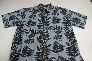 Cooke-Street-Honolulu-Blue-Floral-Hawaiian-CAMP-SHIRT-Medium-M