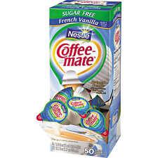 3 Pk Nestlé Coffee-mate Sugar Free French Vanilla Liquid Creamer Singles 3X50ct