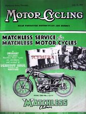Jul 15 1954 Matchless 'G80S Clubman' Motor Cycle ADVERT - Magazine Cover Print