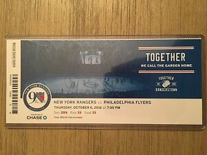 2016-17-New-York-Rangers-NHL-Official-Mint-Ticket-Stubs-pick-any-game