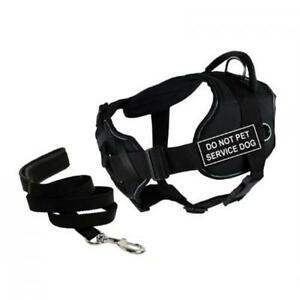 Dean & Tyler DT Fun Chest Support DO NOT PET SERVICE DOG Harness X-Large C6