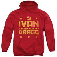 Rocky Balboa Pullover Ivan Drago I Will Break You Red Cotton Hoodie Sm-2xl