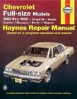 Chevrolet Full-size Models 1969-90 V6 and V8 Owner's Workshop Manual by Curt Choate (Hardback, 1988)