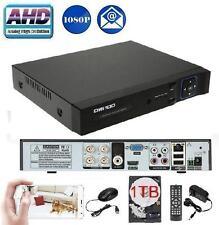 Owsoo CCTV 4 Ch AHD 1080P Network Hybrid DVR for all Analog Cameras + 1TB HDD