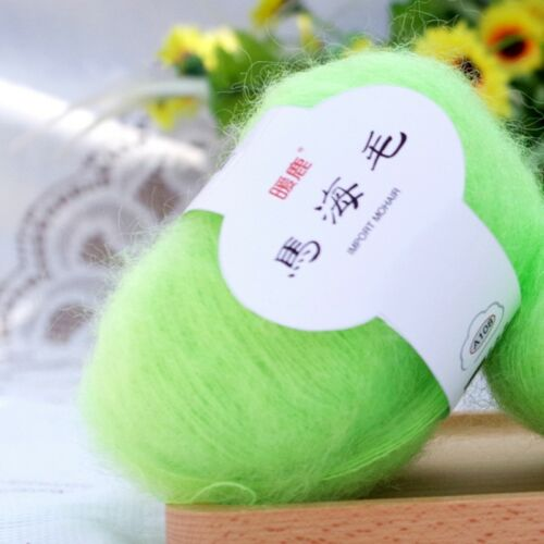 1 ball x 25g Baby Mohair Cashmere Silk Wool Children hand knitting Crochet Yarn