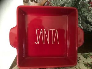 rae-dunn-Christmas-Red-Square-Brownie-Baker-Santa-New