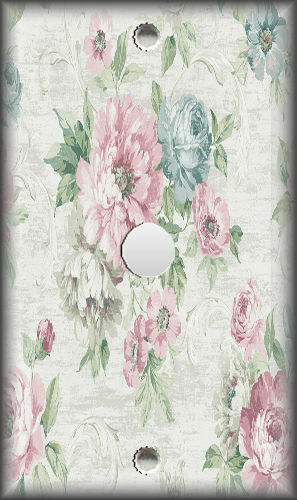 Metal Light Switch Plate Cover Victorian Floral Design Floral Home Decor 01