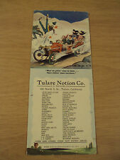 "VTG circa 1940 ADVERTISING Ink BLOTTER~""TULARE Notion Co.""~CA Ephemera~Comical~"