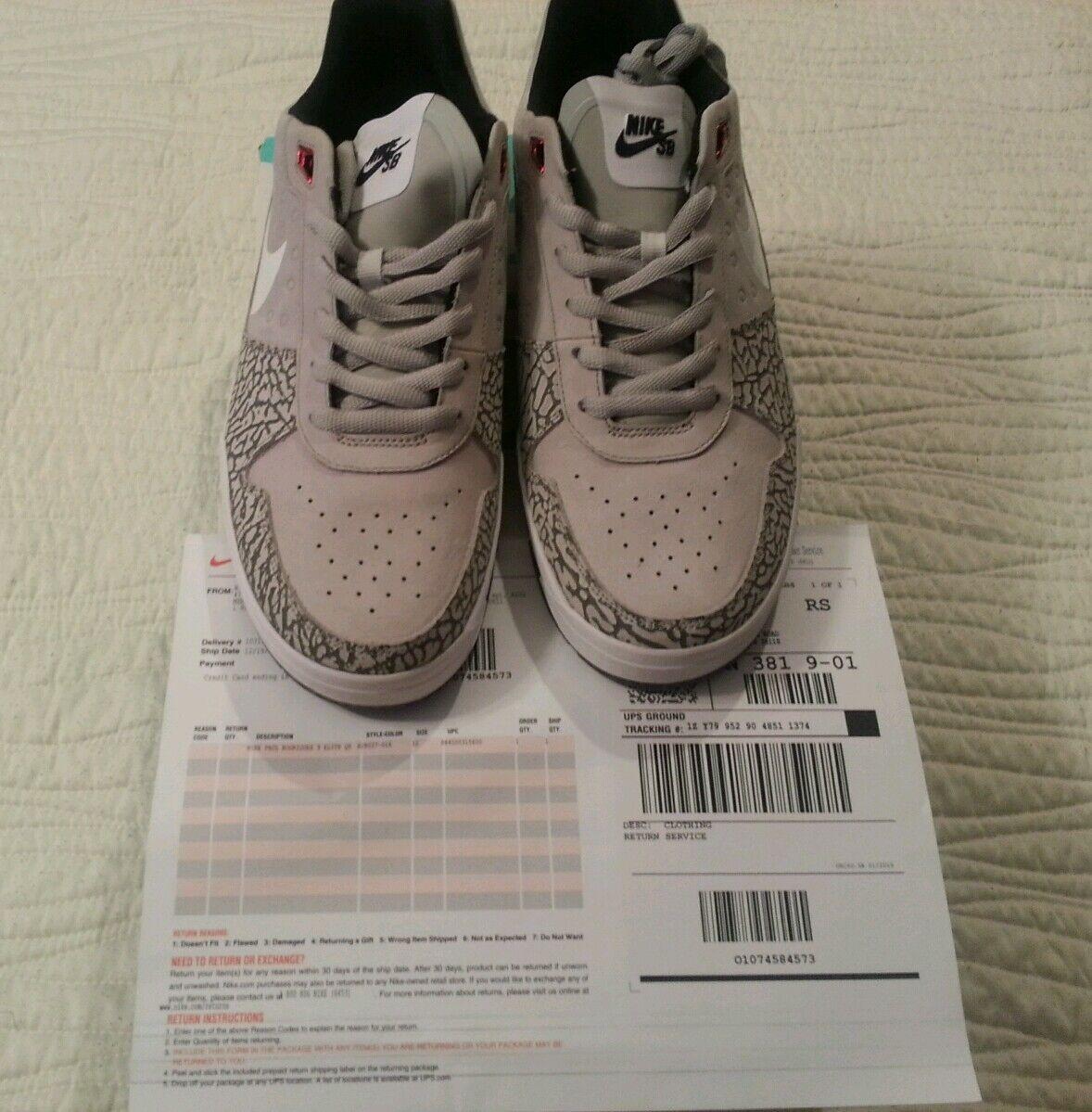 Nike SB Paul rodriguez P Rod 9 Elite QS J Rod Size 12 BRAND NEW with receipt.