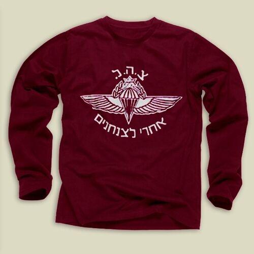 Paratroops Jump Wings Sweatshirt -IDF, Long Sleeve, S,M,L,XL,2XL,3XL