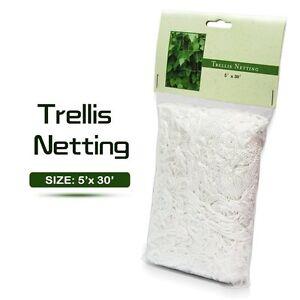 Plant Support 5ft X 30ft Heavy Duty Soft Mesh Nylon Trellis Netting For  Garden