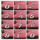 New Stainless Steel Chain Number Pendant Necklace Charms Colorfast figure 0~9