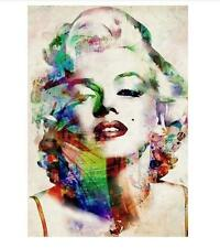 Modern Oil Painting Wall Decor Art Huge abstract - Colourful Marilyn Monroe