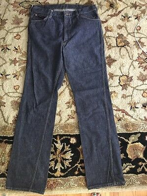 Ambizioso 1970's Roebuck By Sears Scuro Indigo Blu / Jeans Uomo Misura 35x35 Sconto Del 50