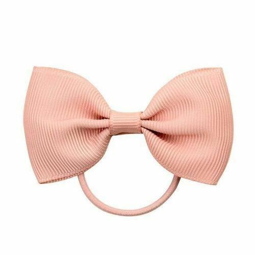 Ribbon Knotted Hair Bow Elastics Hair Ties Band Ring Scrunchies Ponytail Holder