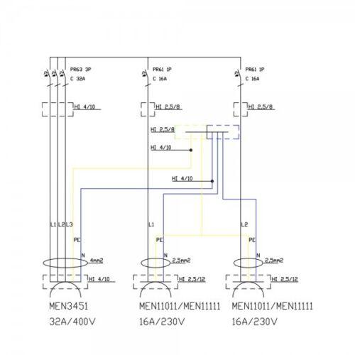 Baustromverteiler TD-S 1x32a 2x230v doktorvolt 6732