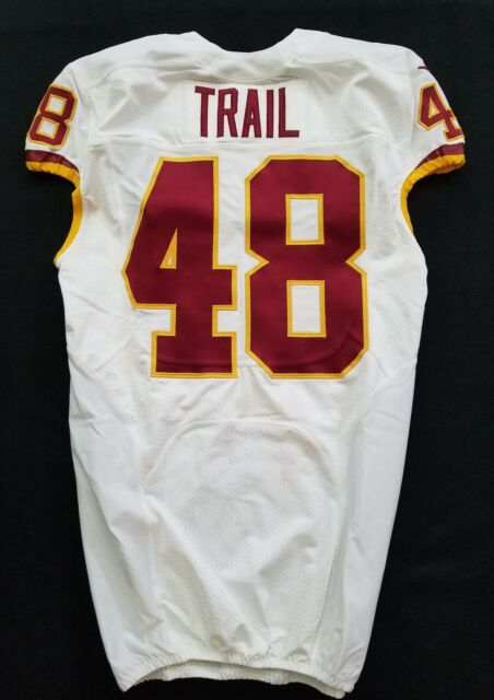 #48 Lynden Trail of Washington Redskins Nike Game Issued Jersey