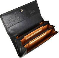 Golunski Black Womens Soft Leather Rfid 6 Card Organiser Purse Wallet Rf9 Boxed
