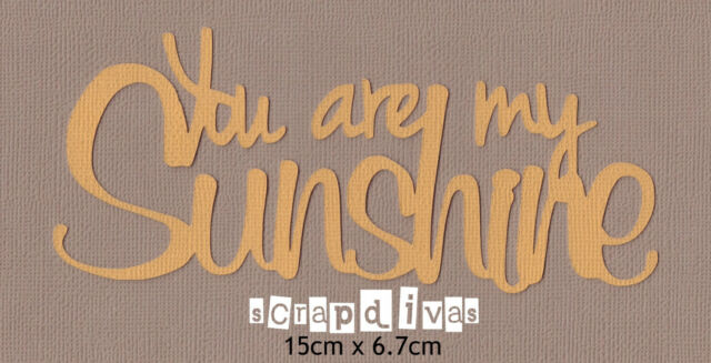 Scrapbooking Words - YOU ARE MY SUNSHINE Phrase Die Cuts - Cardstock x 1