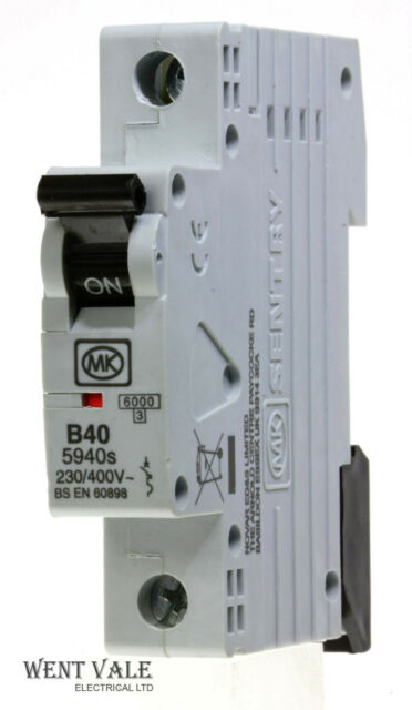 MK Sentry 5920s 5932s 5940s Type B MCB Circuit Breaker BSEN60898 20A 32A 40A