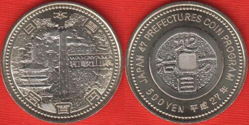 "Japan 500 yen 2015 /""Wakayama/"" BiMetallic UNC"