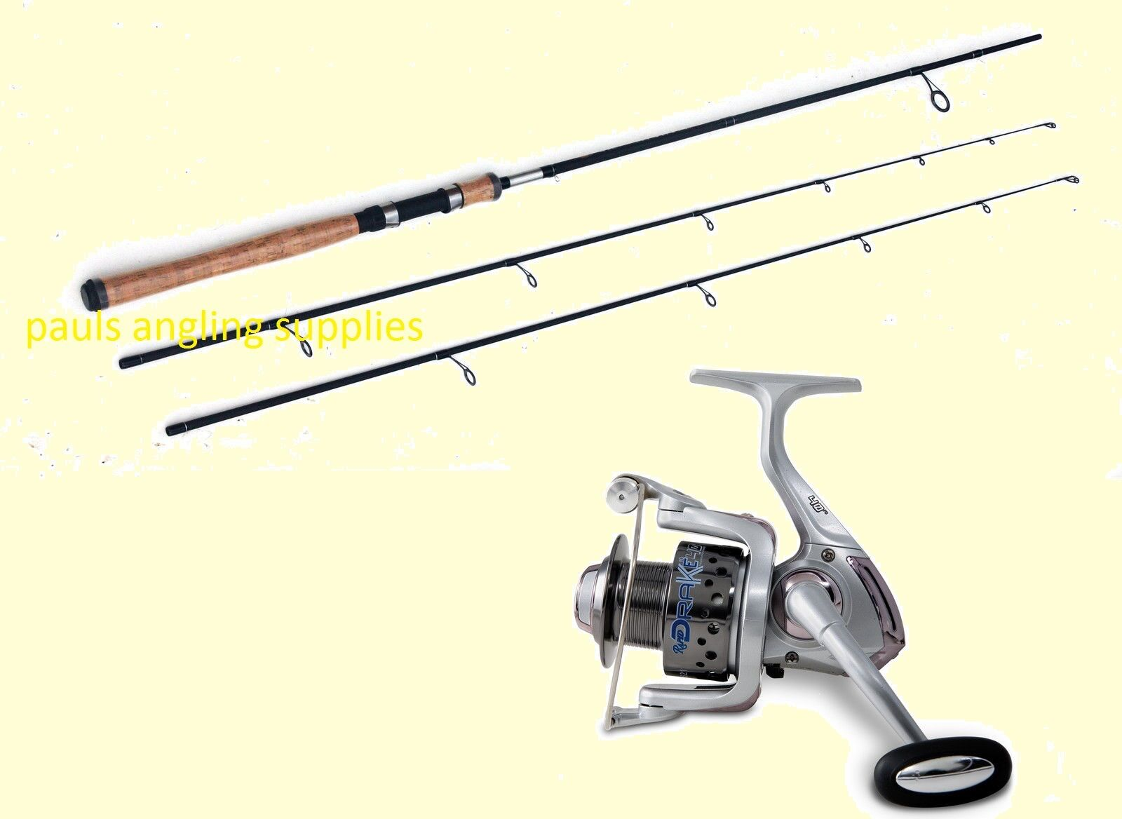 Lineaeffe Carbon Twin Top Spinning Fishing Rod-2 Top Spin Rod & Drake 40 Reel