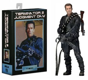 """Terminator NECA 2 Judgment Day T-800 Ultimate Deluxe Arnold 7/"""" Action Figure Toy"""