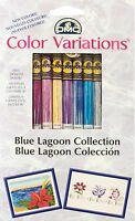 8 Skeins Of Dmc Floss / Thread Color Variations Blue Lagoon Collection 417xus5