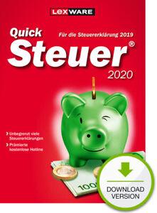 QuickSteuer 2020 (für Steuerjahr 2019), Download, Windows