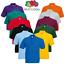 Fruit-of-the-Loom-Para-Hombres-Polo-Camisa-Mangas-Cortas-Camiseta-de-Golf-Liso-Collar-de-S-5XL