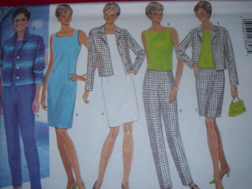 LADIES PRETTY DAY or EVENING COMPLETE WARDROBE PATTERN 6-18 FF BUTTERICK #4553
