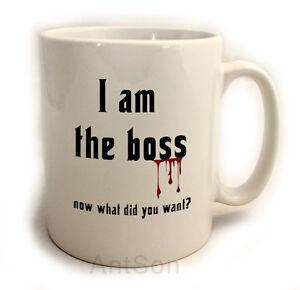 I 39 m the boss funny novelty mug in godfather style 11oz secret santa office gift ebay - Secret santa gifts office ...
