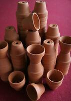 Lot Of 50 Small Clay Flower Pots, Doll House, Fairy Garden, Craft, Art, School