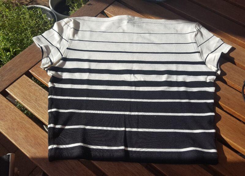 *shirt* Weiß*schwarz*gestreift*gr.38*m*