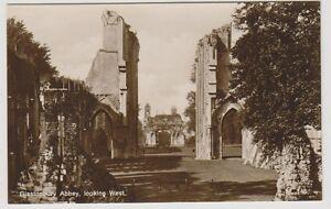 Somerset-postcard-Glastonbury-Abbey-looking-West-RP
