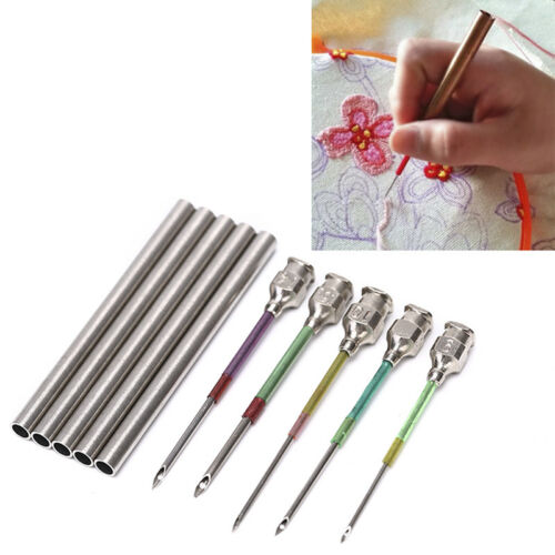 1 set Embroidery stitching punch needle handmade sewing tools 9# 10# 12# 16#