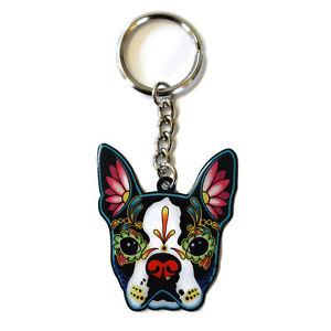 Boston-Terrier-Dog-Metal-Key-Ring-Keyring-Cali-Pretty-in-Ink