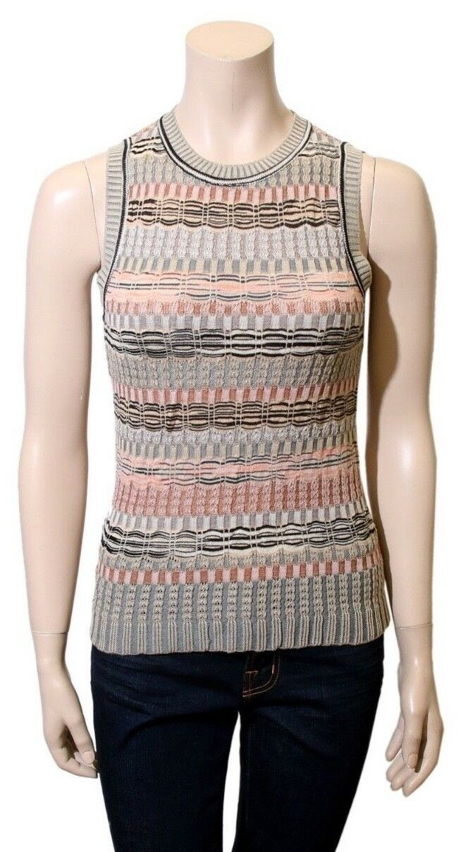 MISSONI Printed Knit Top (Größe 40)