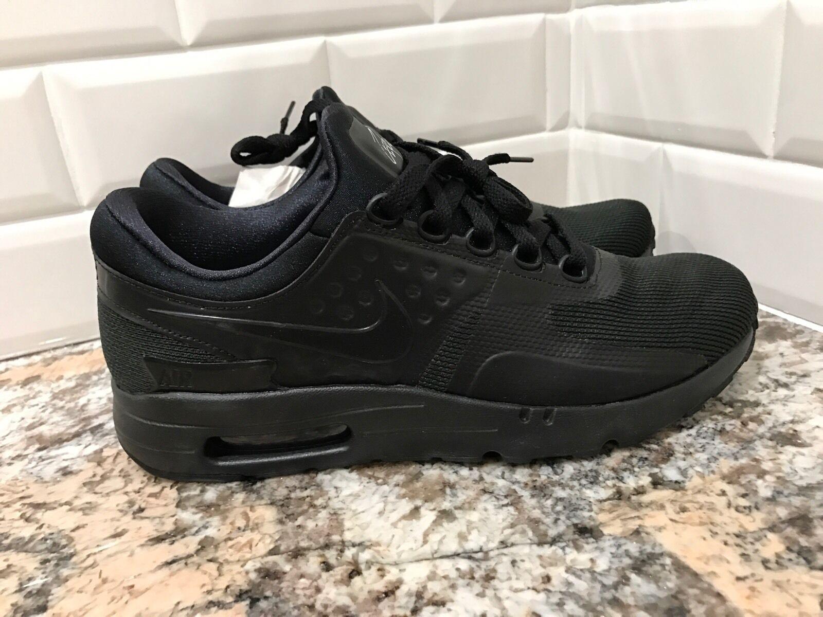 Nike Air Max Zero Essential Negro Triple de Negro Rare Hombre reducción de Triple precio venta de liquidacion de temporada 6cd834